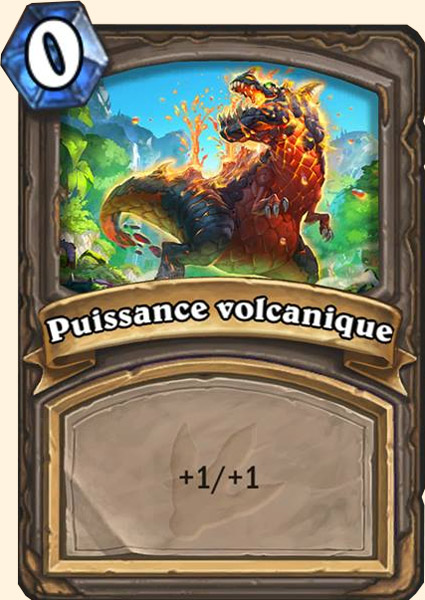 Carte adaptation Puissance volcanique Hearthstone