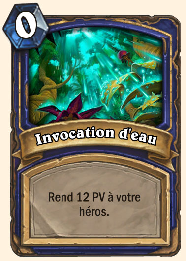 invocation eau hearthstone