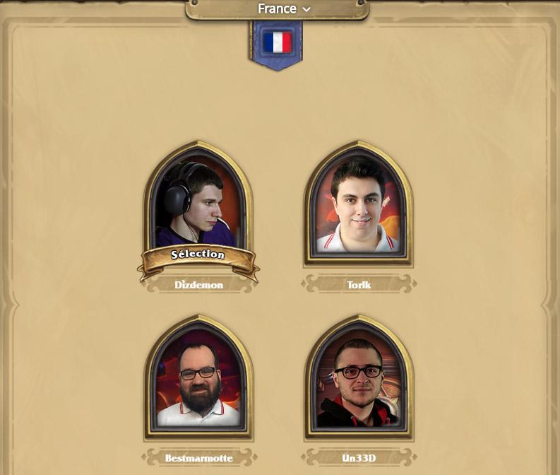 Hearthstone Global Games - Les joueurs sélectionnés pour la France