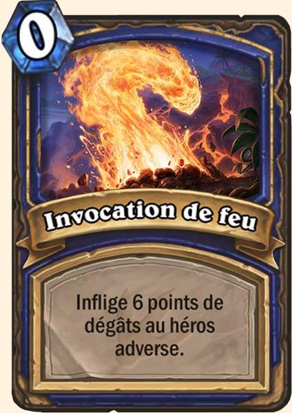 invocation feu hearthstone