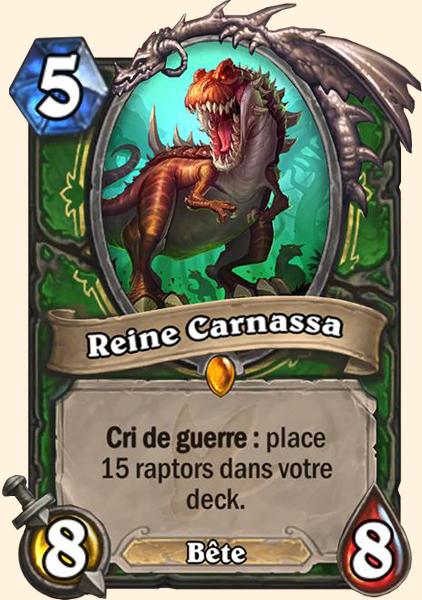 Carte Reine Carnassa Hearthstone