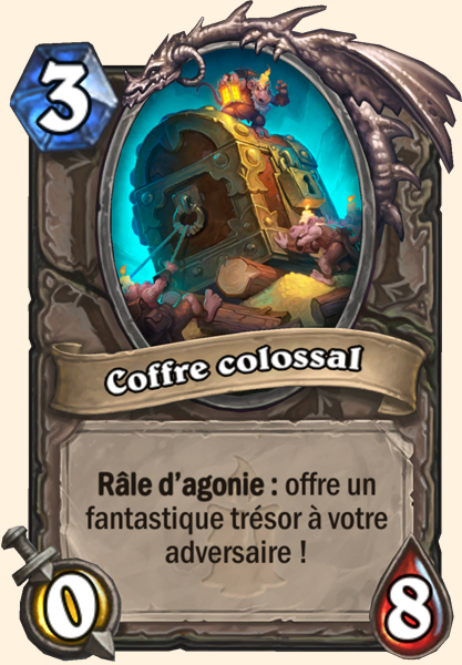 Carte Hearthstone - Coffre colossal