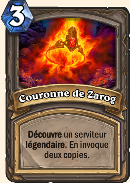 Carte Hearthstone - Couronne de Zarog