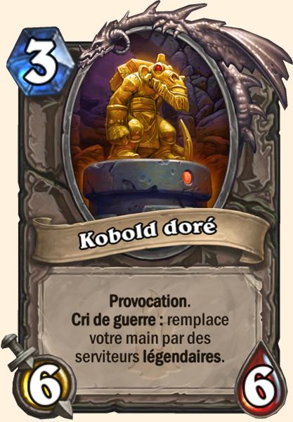 Carte Hearthstone - Kobold doré