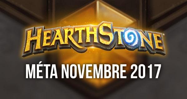 hearthstone : meilleurs decks de la meta novembre 2017
