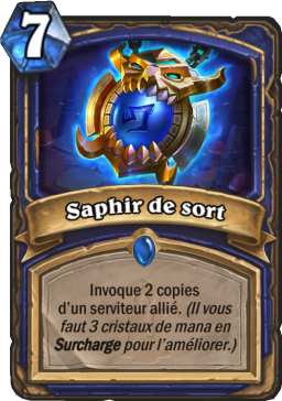 Carte Hearthstone - Saphir de sort