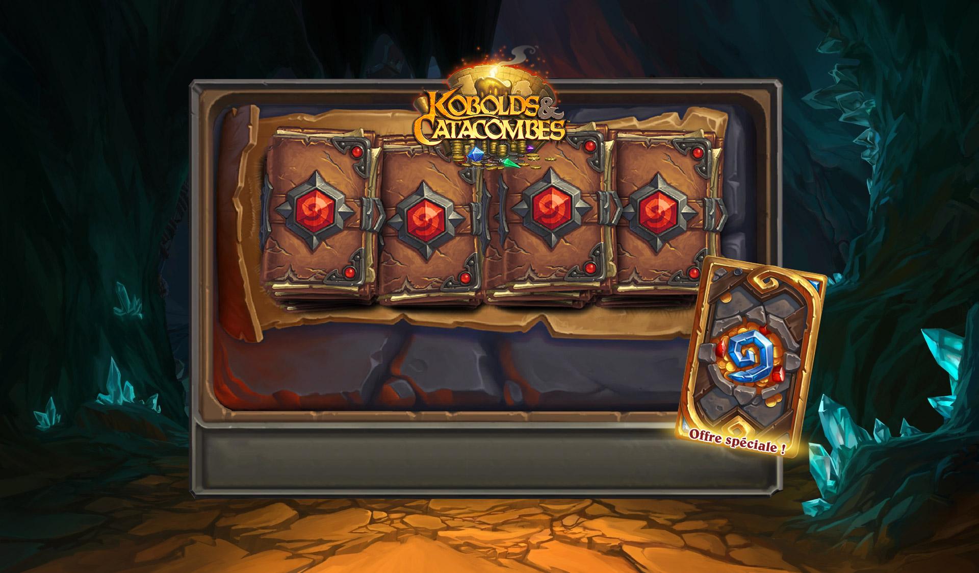 Obtenez jusqu'à six paquets Kobolds et Catacombes et deux cartes légendaires !