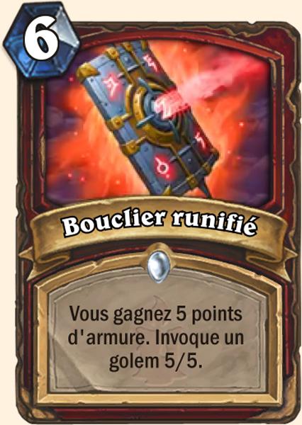 Carte Hearthstone - Bouclier runifié