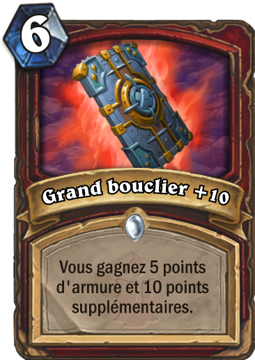 Carte Hearthstone - Grand bouclier