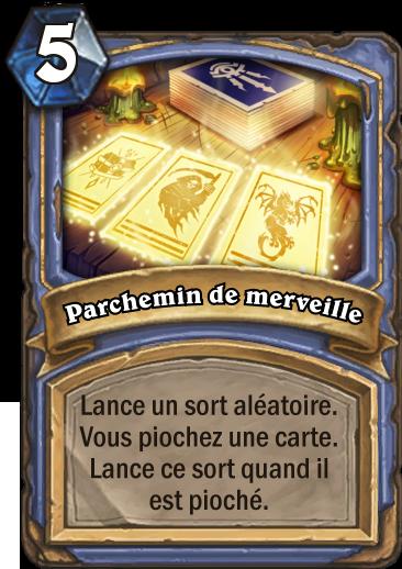 Carte Hearthstone - Parchemin de merveille