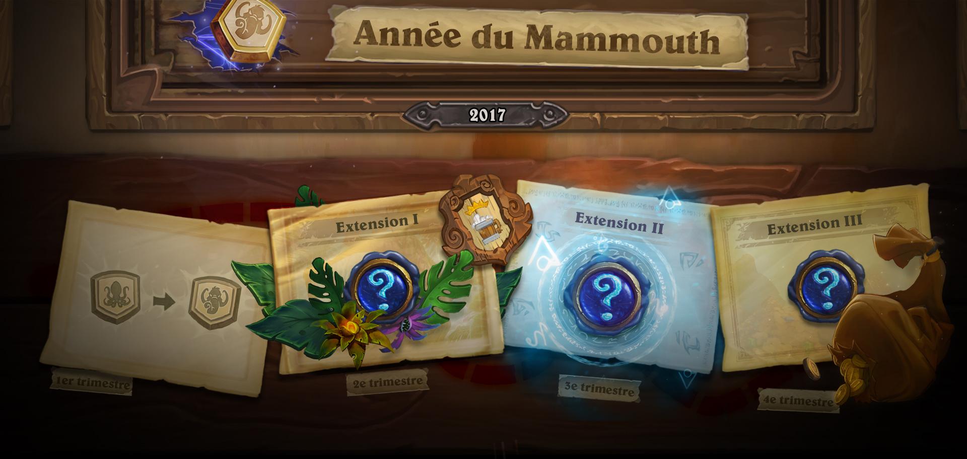 Les différentes extensions de l'année du Mammouth