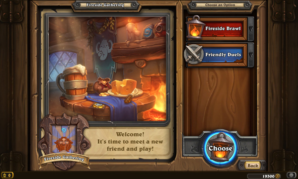 Nouveau menu des Fireside Gatherings