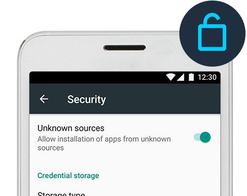 Acceptez les téléchargements de sources inconnues