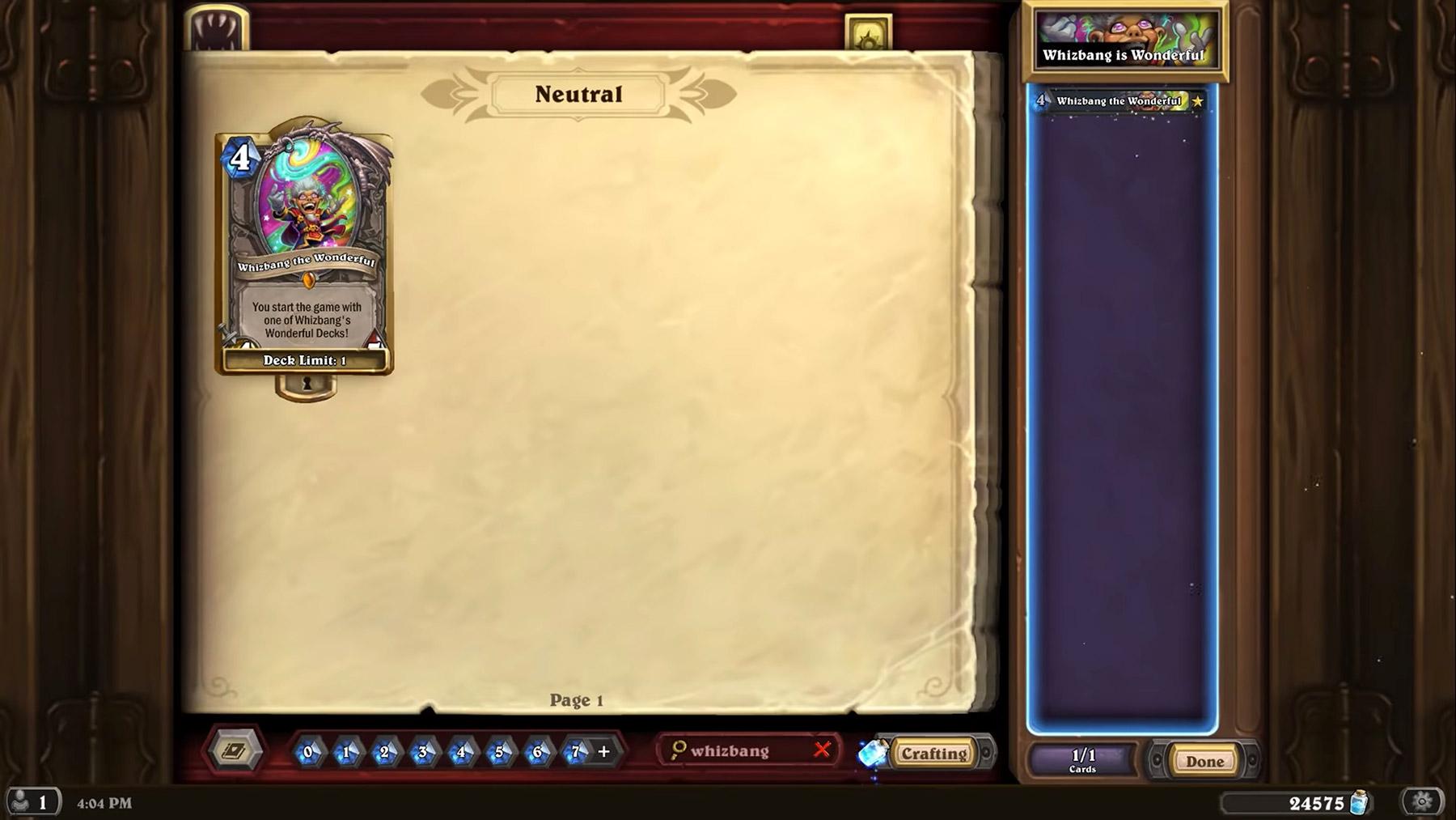 Mystifix se substitue à votre deck dans Hearthstone
