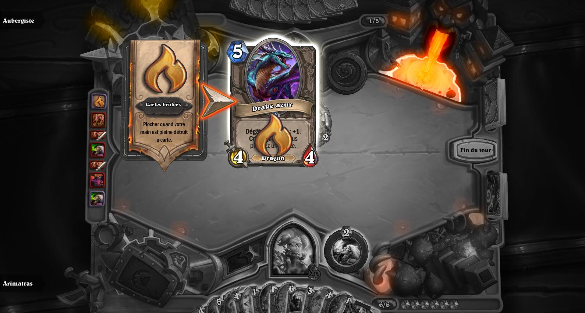 Les cartes brûlées apparaissent désormais dans l'historique