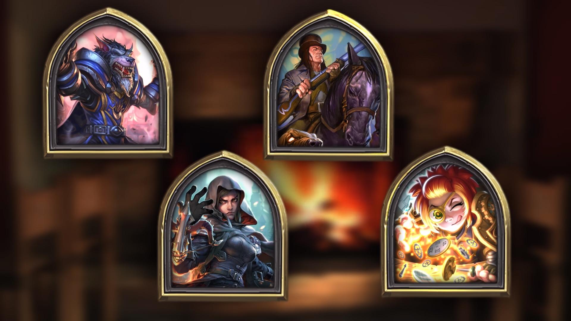 Les quatre héros du mode Chasse aux monstres