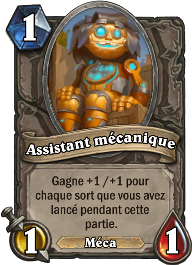 Carte Hearthstone - Assistant mécanique