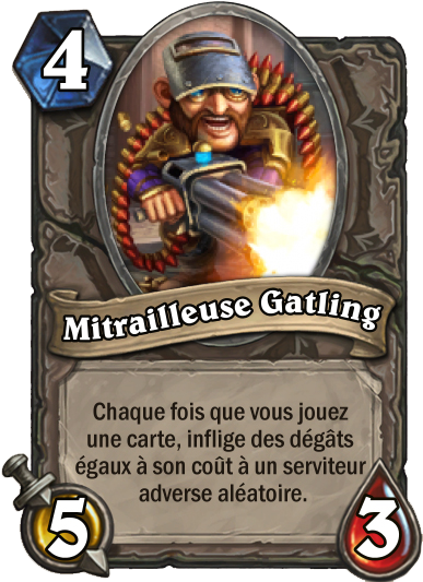 Carte Hearthstone - Mitrailleuse Gatling