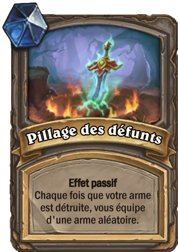 Carte Hearthstone - Pillage des défunts