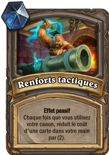 Carte Hearthstone - Renforts tactiques