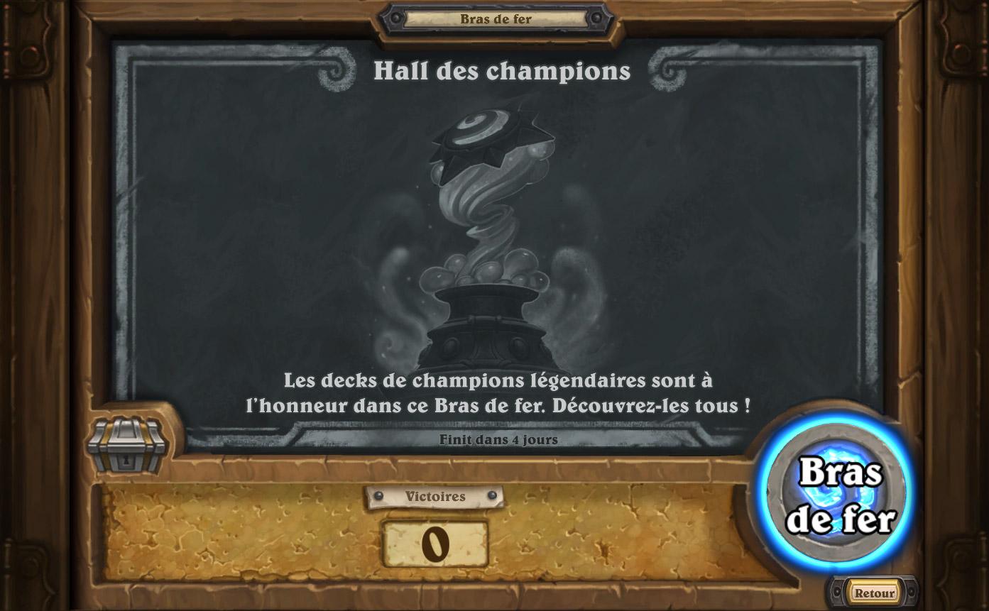 Bras de fer hebdomadaire : le Hall des champions