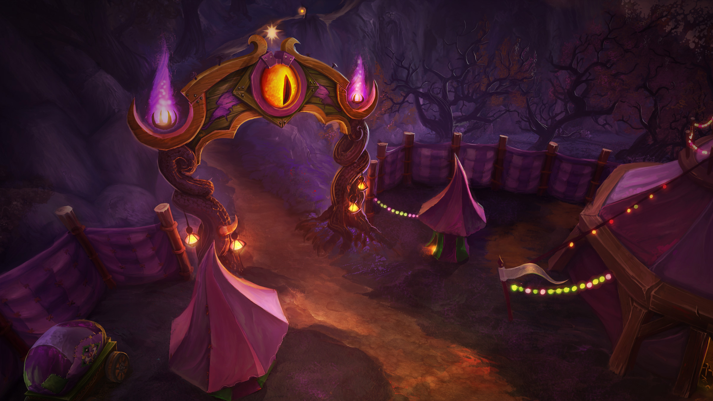 Artwork de la Foire de Sombrelune dans World of Warcraft