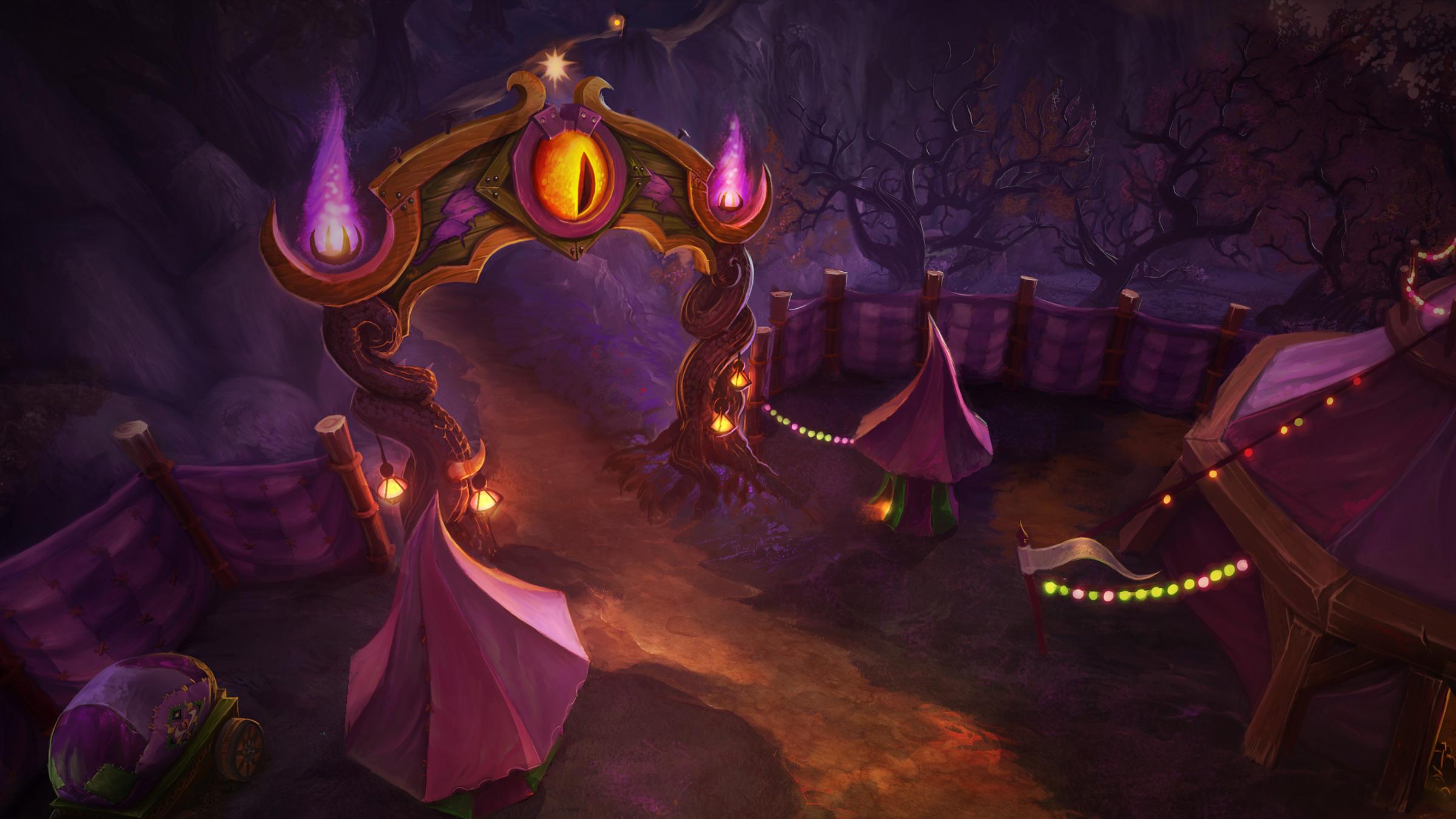 Artwork de la Foire de Sombrelune dans World of Warcraft