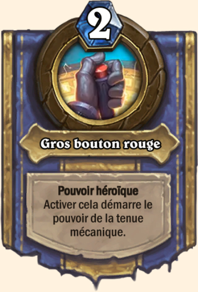 Gros bouton rouge