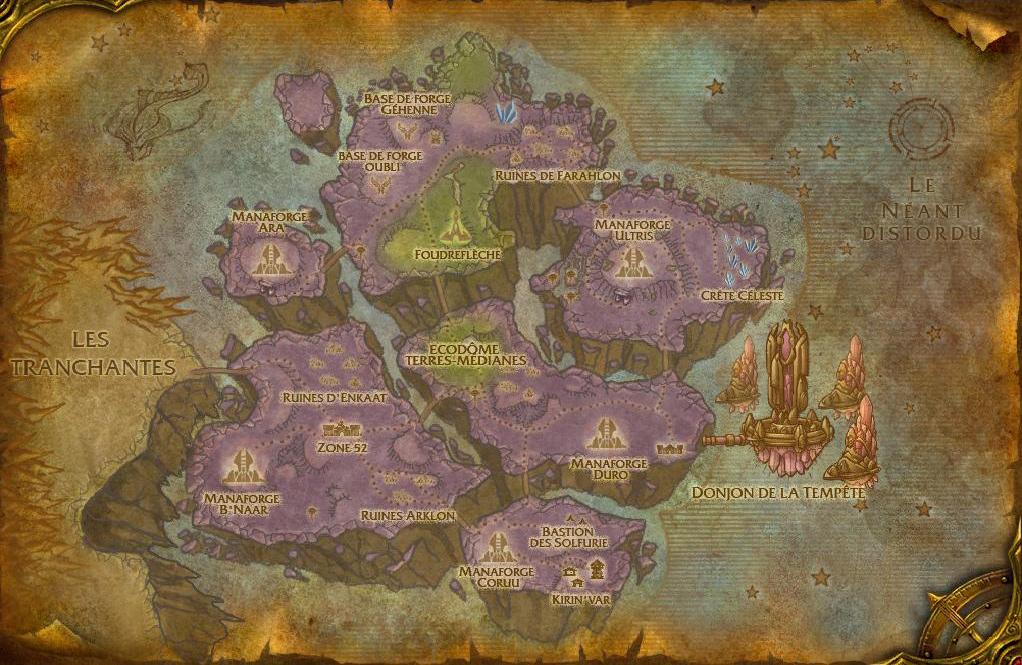 Carte du Raz-de-Néant dans World of Warcraft
