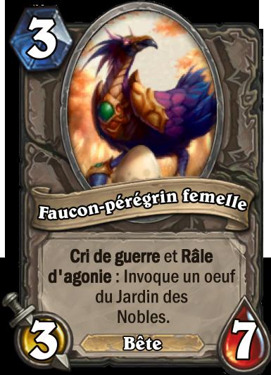 Carte Hearthstone - Faucon-pérégrin femelle