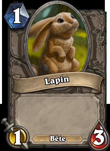 Carte Hearthstone - Lapin