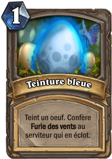 Carte Hearthstone - Teinture bleue