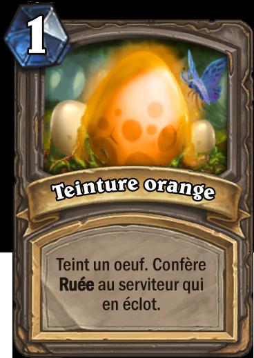 Carte Hearthstone - Teinture orange