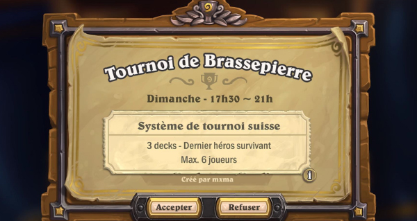 mode tournoi hearthstone : confirmations a propos de la beta