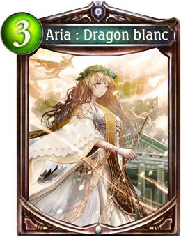 Aria Dragon blanc carte Shadowverse