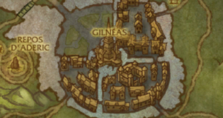 Carte des ruines de Gilnéas (post-Cataclysme)
