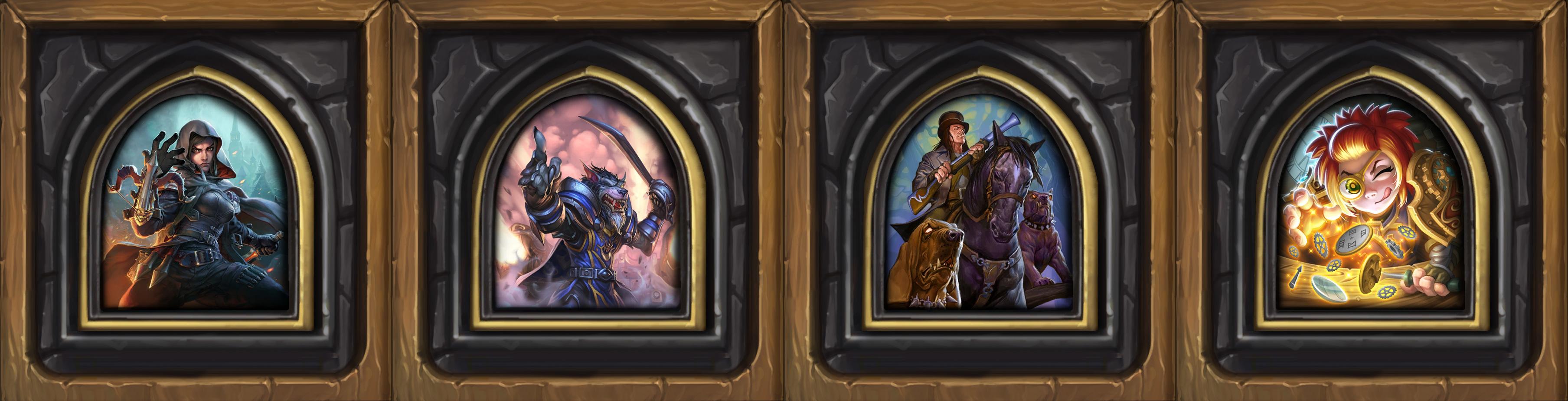 Les quatre héros de la Chasse aux monstres