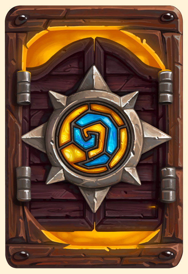 Dos de carte Hearthstone -  Blizzcon 2016