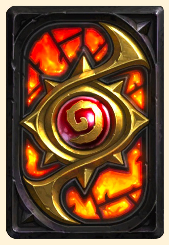Dos de carte Hearthstone - Niveau secret
