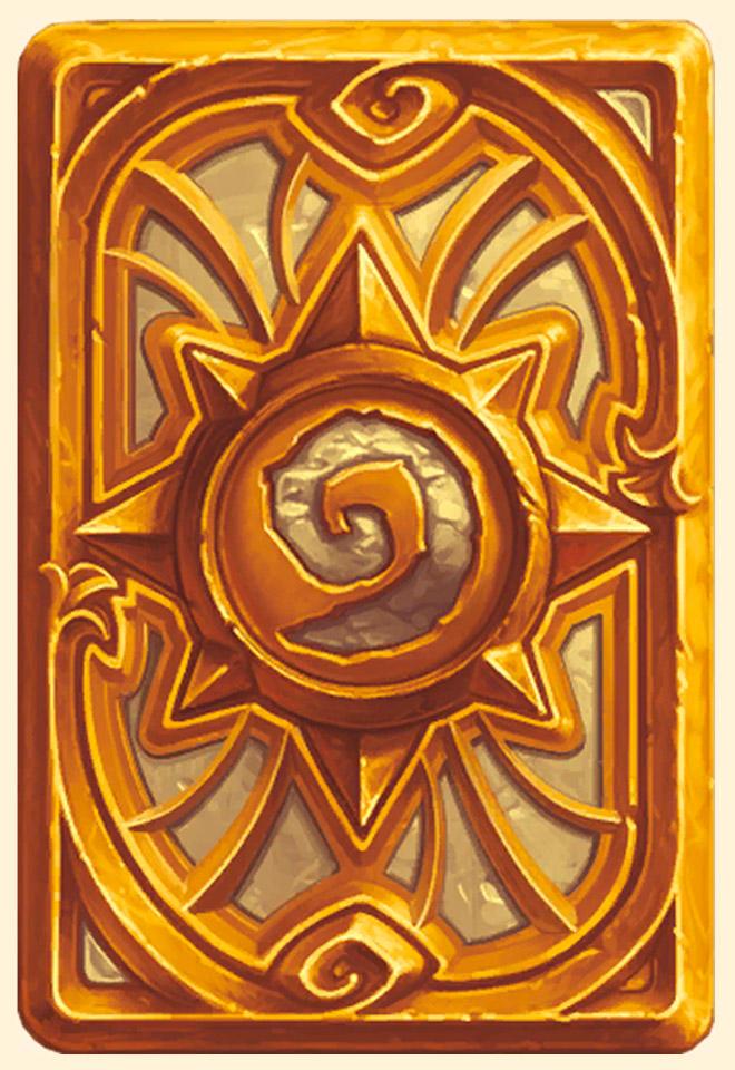 Dos de carte Hearthstone - Doré