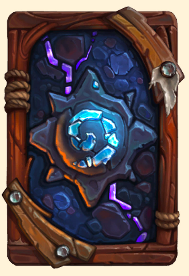 Dos de carte Hearthstone - Catacombes