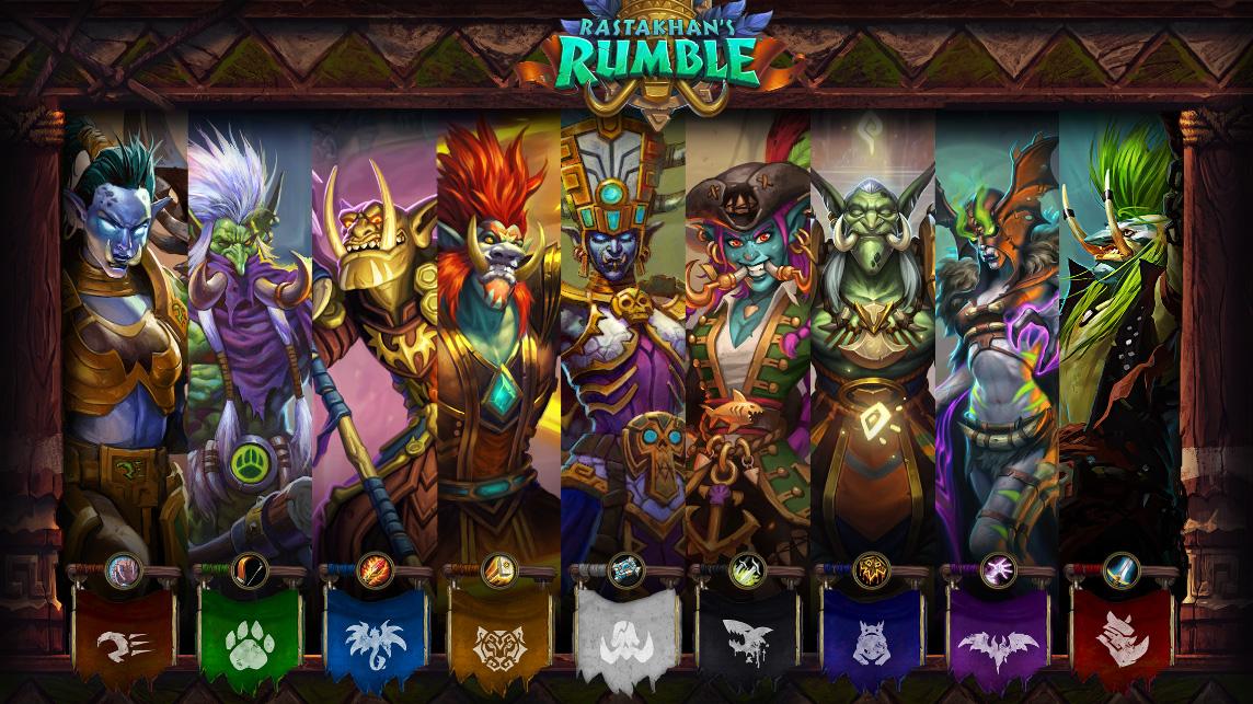 Les neuf champions trolls des Jeux de Rastakhan