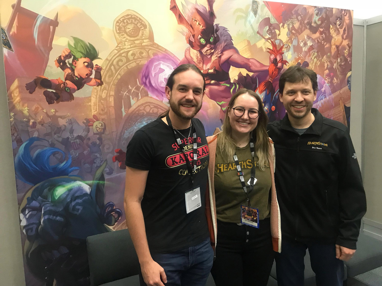 Zecharia a pu interviewer Cat Morgan et Mike Donais développeurs pour Hearthstone