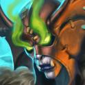 Carte Démoniste Loa Champion troll Esprit Hearthstone