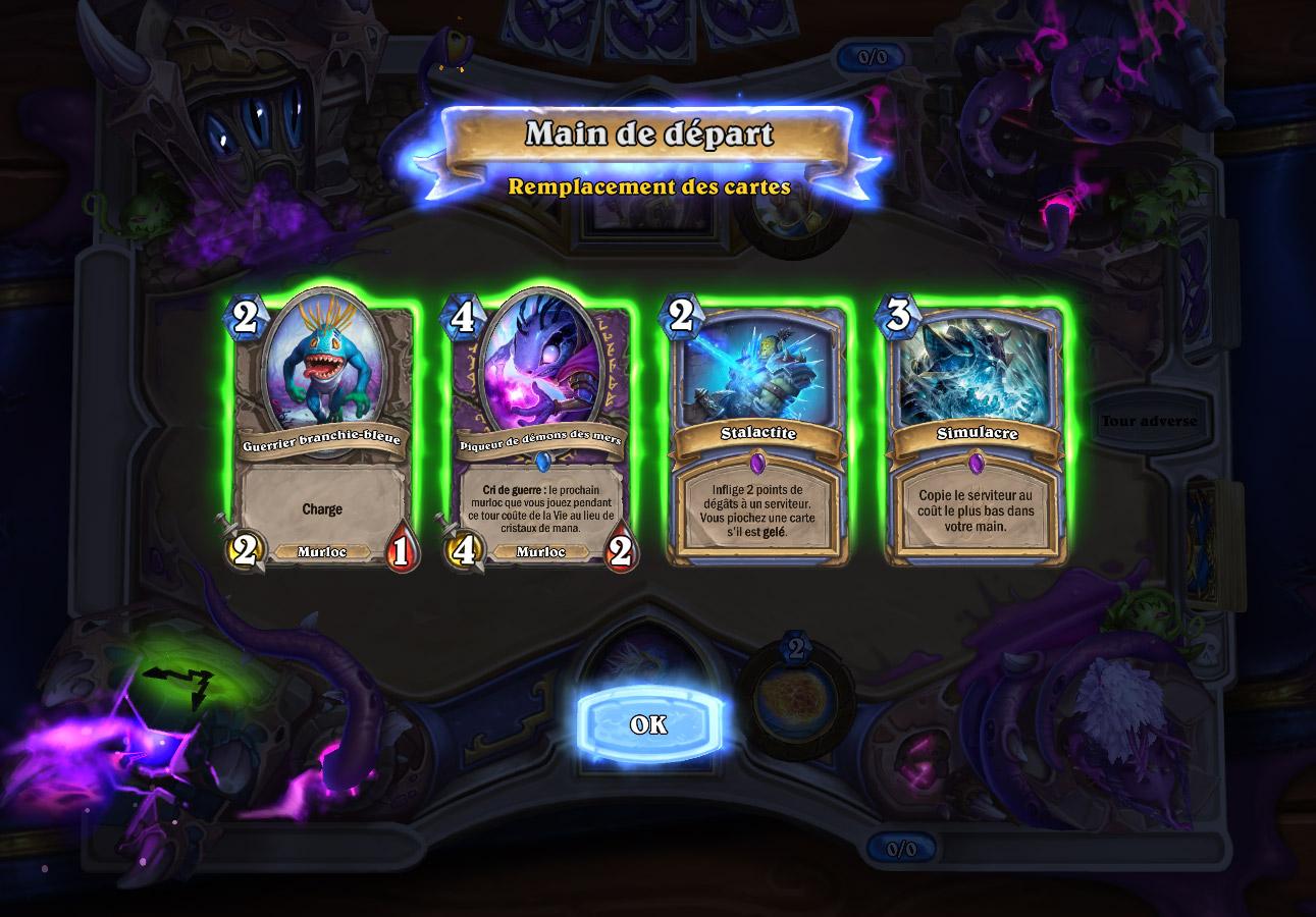 Vous obtenez un deck composé de cartes murlocs et de sorts de classe aléatoires
