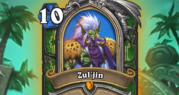 rastakhan : zul'jin, carte heros et champion troll chasseur