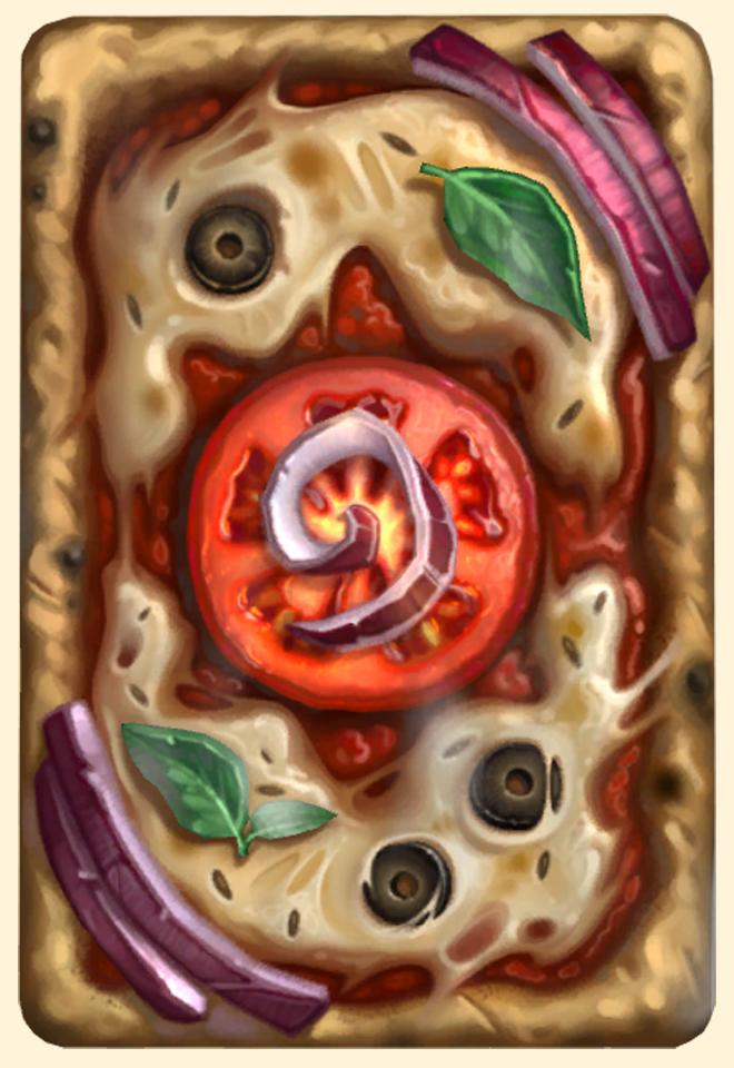 Dos de carte Hearthstone - Pierre à pizza - Saison 59
