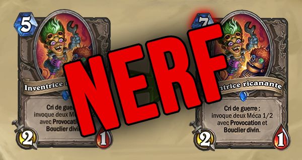 equilibrage hearthstone :