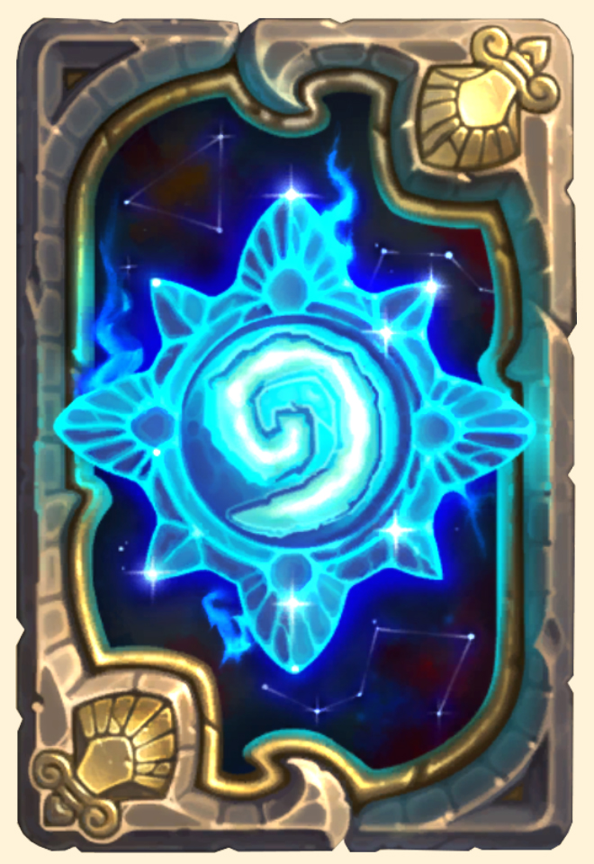 Dos de carte Hearthstone - Blizzcon 2018