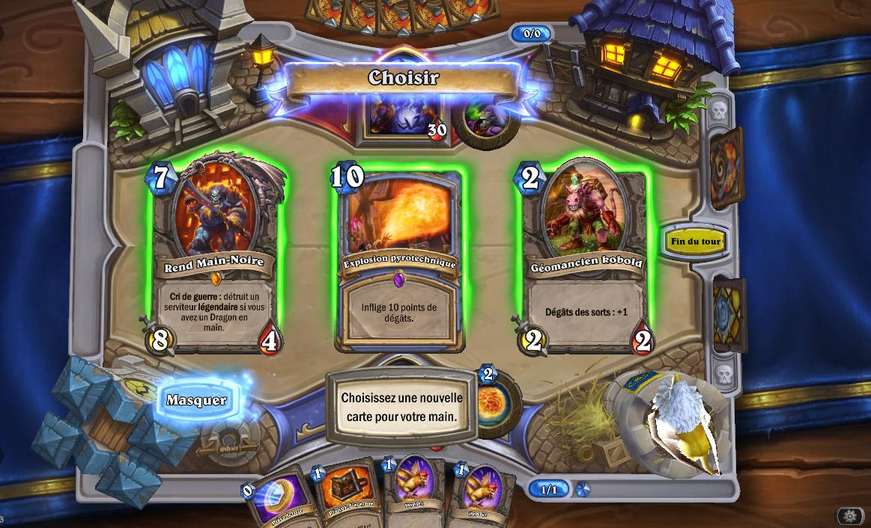 À chaque tour, choisissez une carte parmi 3 proposées